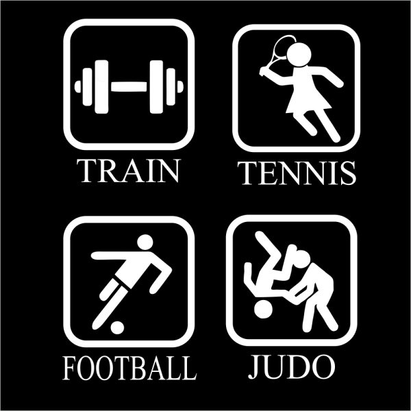 Judo T-shirt LION eat sleep repeat opties
