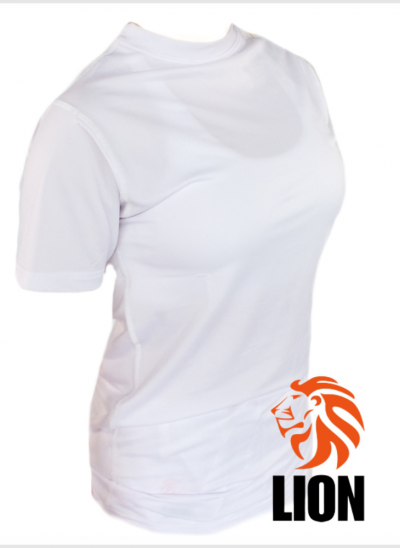 Lion Tshirt Rash guard dames wit
