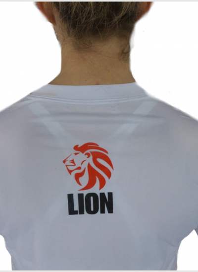 Lion Tshirt Rash guard dames wit achterkant
