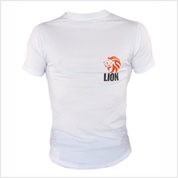 Lion T-shirt Rash guard heren wit