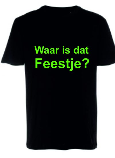 T-shirt eigen tekst feest of evenement