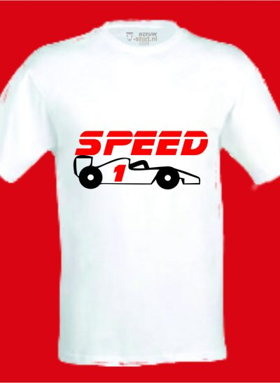 T-shirt speed formule 1 wit
