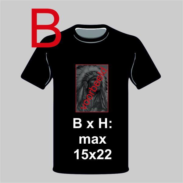 T-shirt ontwerp zelf met eigen foto zwart portrait