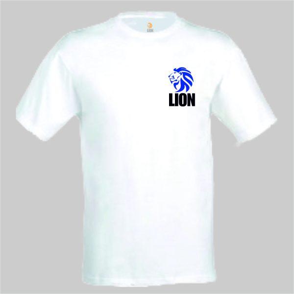 nieuwtshirt.nl Lion T-shirt basic wit - blauw