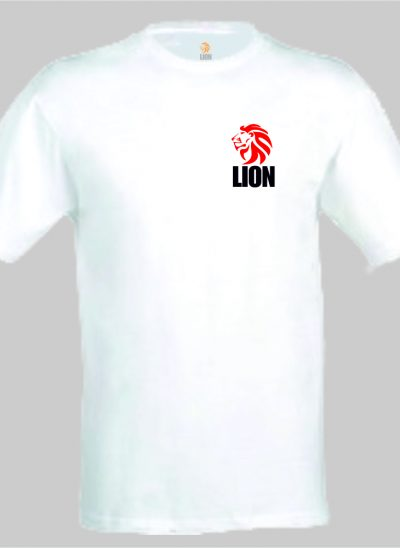 nieuwtshirt.nl Lion T-shirt basic wit - rood