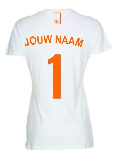 T-shirt voetbal Nederland dames achterkant