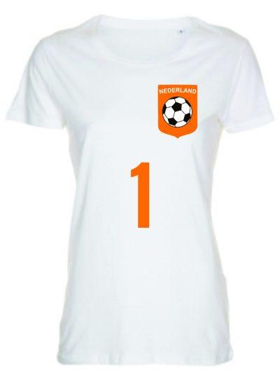T-shirt voetbal Nederland dames Nederlands elftal