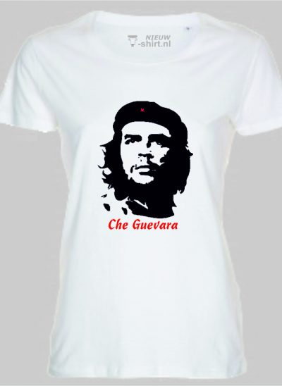 T-shirt Che Guevara wit dames