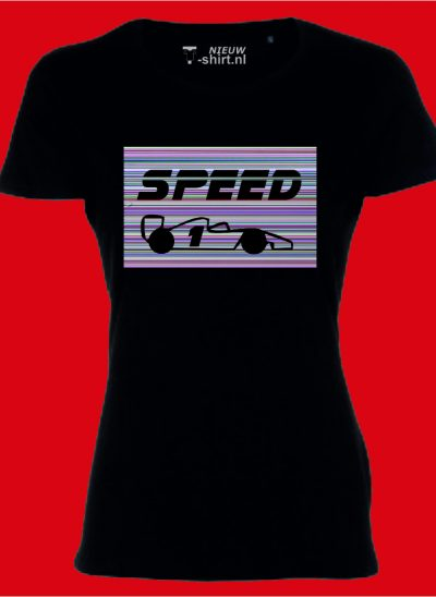 Speed in stripes dames zwart