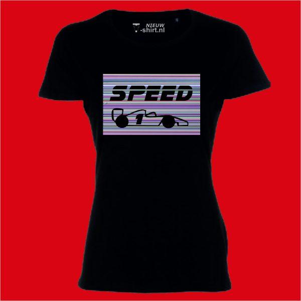 Speed in stripes dames zwart