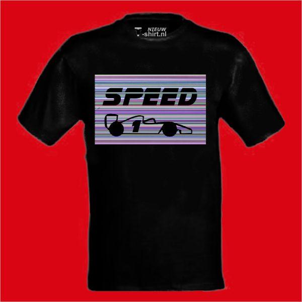 Speed in stripes unisex zwart