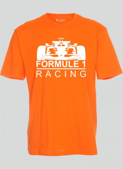 Nieuw T-shirt T-shirt Formule 1 oranje - wit formule 1 - sizes regular