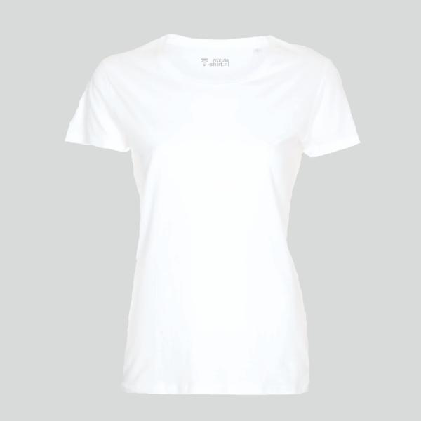 T-shirt wit dames - model 'pure'