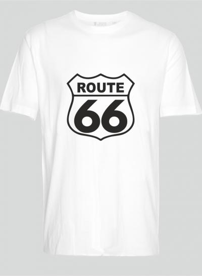 T-shirt americana T-shirt route 66 wit regular