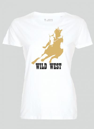 americana T-shirt wild west wit dames