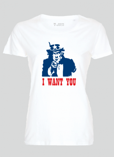 T-shirt americana t-shirt uncle sam - wit dames