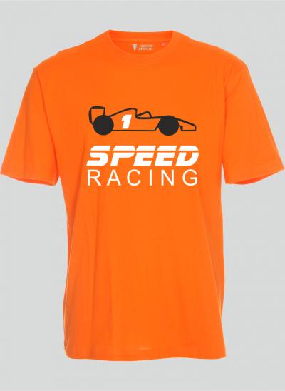 Tshirt speedracing formule 1 kinderen regular oranje