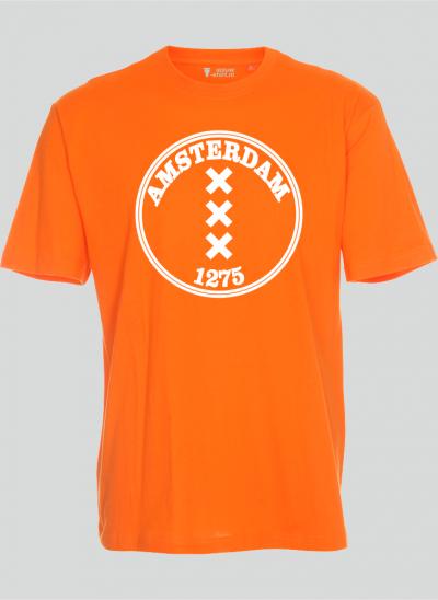 T-shirt Amsterdam 1275 rond oranje regular