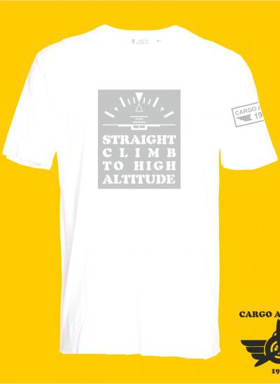 T-shirt cargo aviation company straight climb to high altitude